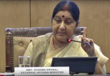 Sushma Swaraj Sends Stern Message to Pak