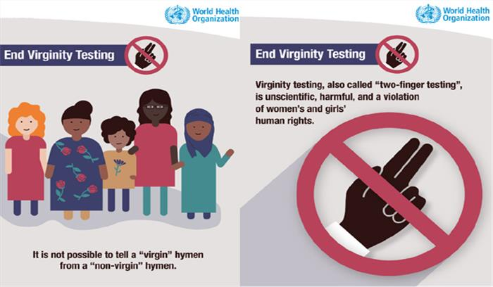 Image result for UN condemns virginity testing