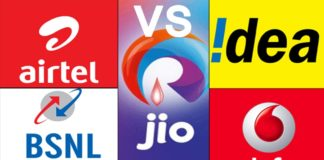 Plans of Airtel, Vodafone, Idea, Reliance Jio, and BSNL
