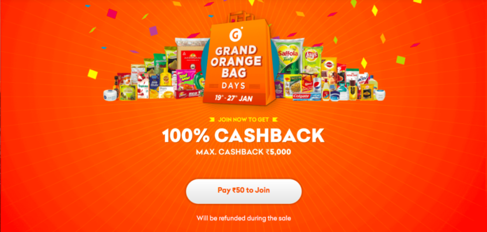 grofer 5000 cashback offer online