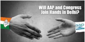 aap and congress join hands image