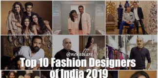 list of top 10 fashion designers of India
