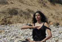 Super model Pooja exercise Falun Dafa meditation