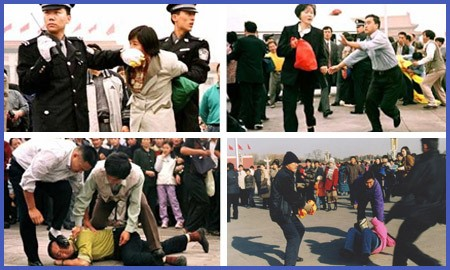 Chinese crude repression against Falun Gong followers