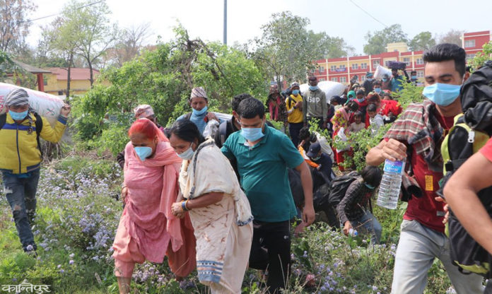 Nepali workers entered from India fled from Quarantine