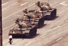 Tank man of China