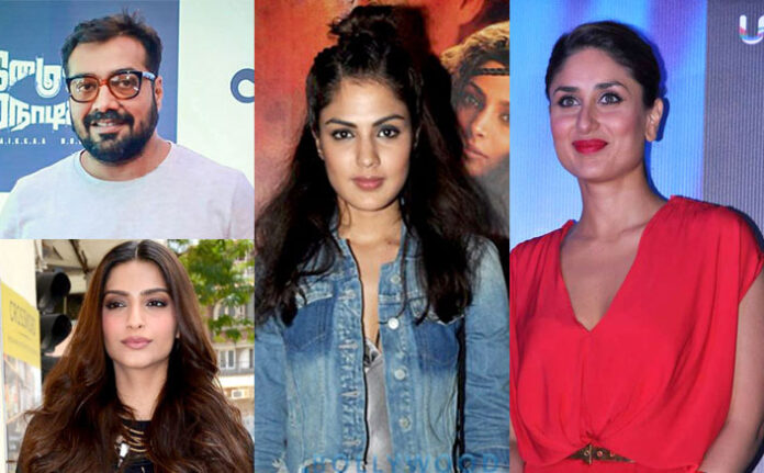 Bollywood celebrities supporting Rhea Chakraborty
