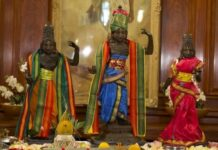 hindu idols were stolen from temple