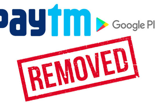Google removed Paytm from Play Store