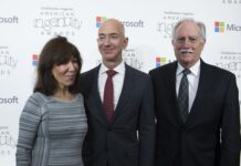 Jeff Bezos with his parents